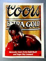 "Sugar Ray Leonard Coors Beer Original 1989 Print Ad 8.5 x 11"""