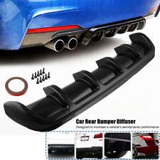 Car Universal Black Rear Bumper Body Kit Shark Chin Spoiler Diffuser Trim Cover