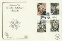 16 JUNE 1987 St JOHN AMBULANCE COTSWOLD FIRST DAY COVER HQ LONDON SW1 SHS
