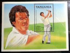 TANZANIA : Famous Athletics - Nakajima, Golfer Souvenir sheet