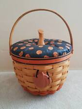 Longaberger 1995 Halloween Pumpkin Basket Combo w/ Pro, Liner, Lid, Tie Retired