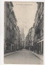 Bayonne Rue Port Neuf France Vintage Postcard 797a