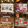 Personalised Christmas Photo Cards Folded Postcards Boy Girl Children Pack