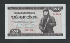 More details for faeroe islands 20 kronur 1949 p19a  uncirculated world paper money