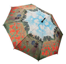 Galleria Auto Stick Umbrella - Monet Poppy Field