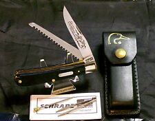 "Schrade 97OT Knife W/Original Sheath Ducks Unlimited 4-1/8"" & Care Instruction"