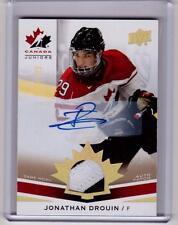 JONATHAN DROUIN 14/15 UD Team Canada Juniors SP Patch Auto Autograph Rookie /125