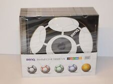 BENQ Football CD-R 700MB 52x / 5 color mix *2 / 10 St. in Slimcase / Fußball Fan
