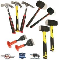 Brick Hammer, Club Lump Hammer, Brick Bolster, HEAVY DUTY Bricklayer Tool Sets