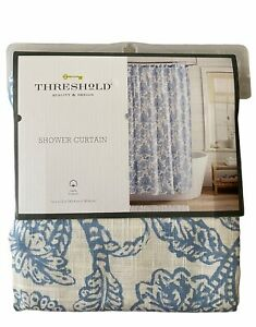 Threshold Shower Curtain Blue Floral 72 x 72 Fabric