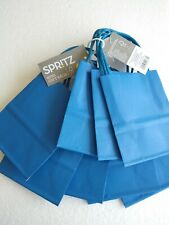 """Lot of 12 ( 3 Pks of 4) Mini Gift Bags Blue 5"""" H 4"""" W w/handle Party Treat"""