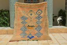 "Vintage Azilal rug, Moroccan Berber rug , Azilal rug 6'6""x4'11"" Ft, beni ourain"