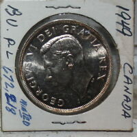 CANADA 1949 SILVER DOLLAR -HIGH WIRE RIMS-