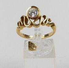 Ring aus 585er Gold mit Bergkristall, Gr. 61/Ø 19,4 mm  (da4894)
