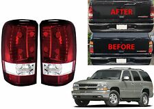 Red Clear Tail Lights For 2000-2006 Tahoe Suburban Yukon New Free Shipping USA