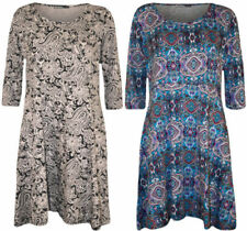 3/4 Sleeve Viscose Dresses for Women with Belt