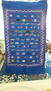 100% Authentic Vintage Kilim Rug Moroccan Carpet High Quality Handmade 35x59 in