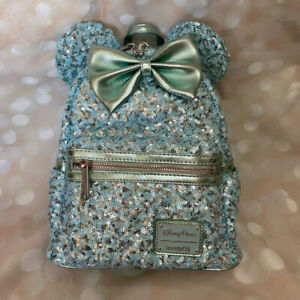 LOUNGEFLY NWT Disney Parks AQUA Arendelle Mini Backpack Retired HTF EXCL