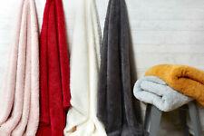 LARGE SOFT & WARM Sherpa Teddy Bear Fleece FUR Sunggly Blanket Sofa / Bed Throw