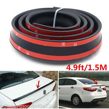 4.9ft/1.5M Universal Black Car Rear Roof Trunk Spoiler Wing Lip Sticker Body Kit