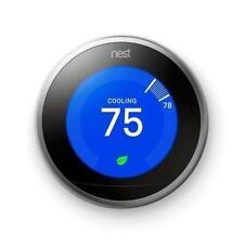 Nest 3rd Generation Learning Stainless Steel Programmable Thermostat Pro