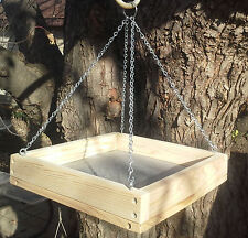 "Med 11 1/2"" Cedar Platform Screen Bird Feeder w/ Chains"