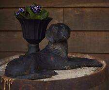 GHISA Nero disteso Labrador Cane statua/Home Decorazione giardino/Lavorazione