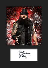 BRAY WYATT #2 (WWE) Signed Photo A5 Mounted Print - FREE DELIVERY
