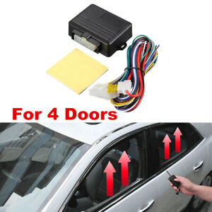4 Windows Car Alarm Systems 12V Auto Window Closer Module Car Accessories