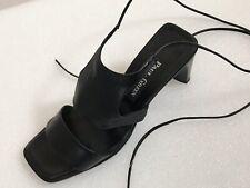 Paul Green Damen T-Steg Sandalette Gr.4,5 37 schwarz Leder Schnürsandale 02531