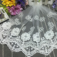 Mesh Flower Lace Trim Wedding Net Tulle Embroidered Applique Sewingcraft