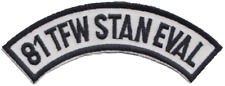 81st militare Fighter Wing TFW staneval Aeronautica usa usaf patch ricamato