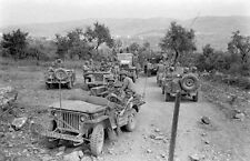 WW2 Photo WWII US Army 10th Mountain Divison Jeeps and Trucks Italy 1944 / 1391