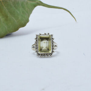 Citrine Ring 925 Sterling Silver Ring Statement Ring Handmade Ring  A-188