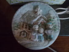 """Precious Moments Sugartown Lighted Plate 1999 #150304 8"""" Plate Guc"""