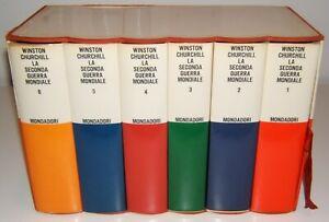 LA SECONDA GUERRA MONDIALE - W.CHURCHILL -  MONDADORI 1965 COMPLETA 6 VOLUMI