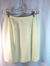 Episode Skirt Size 6 Cream Fully Lined Pencil Zip Back