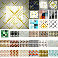 PVC Mosaic Self-adhesive Room Kitchen Decals Decor Home Wall 3D Tile Sticker
