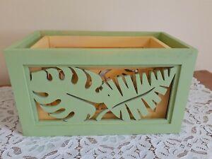 Set-2 Wood Colorful Rectangular Planter Boxes Indoor Outdoor Garden Home Decor