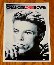 David Bowie Changes One Bowie 4X6 Black & White Postcard France Vintage
