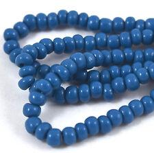 Czech Seed Beads 6 0 Slate Blue Strands