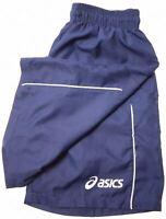 ASICS Boys Sport Shorts 13-14 Years W26 Navy Blue Polyester  MF14