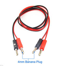1pair 1M/3.3FT 4mm Banana Plug to 4mm Banana Plug Electrical Test Cable Leads
