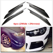 Carbon Fiber Front Bumper Splitter Fins Spoiler Canards Valance Chin for Acura