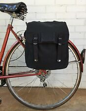 Musette Messenger Bag Bicycle Pannier Military Surplus Style Black