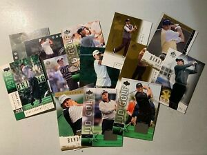 14 Prem. Golf Cards Tiger, Nicklaus, Couples, Others Some Inserts pics Lot #114