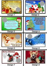 Personalised Christmas Scratch Cards - Set of 8 Fun Party Game Lucky Door Xmas