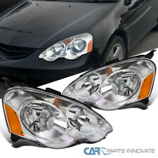 For 02-04 Acura RSX DC5 Replacement Clear Head Lights Driving Lamps Left+Right