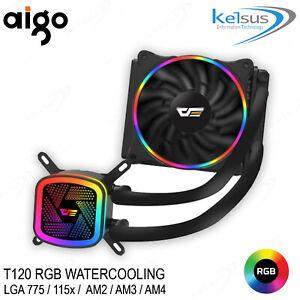DARKFLASH RGB Universal Intel AMD CPU Liquid Water Cooling 120mm LED DT-120 Ring