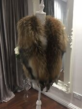 Real Fox Fur Womans Manzari Vest Coat Size S - M